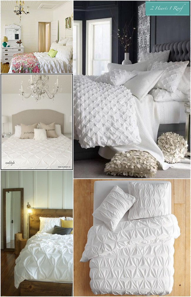 bedroom inspiration white bedding two hearts one roof