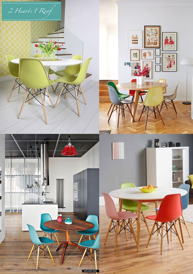 Orange Eames Molded Plastic Chairs Design, Pictures, Remodel, Decor And  Ideas | Eames Dining Chairs | Pinterest | Eames Dining And Dining Chairs