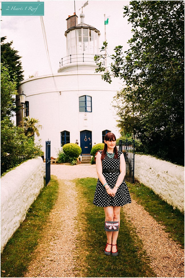 What I Wore – to Usk Lighthouse, Polka Dots and Vintage Beads