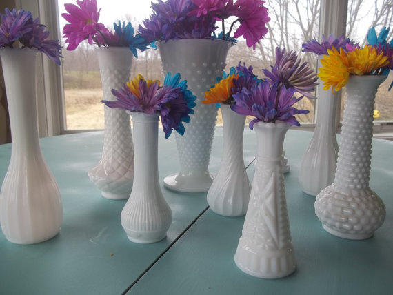 Chantele's Etsy Finds – Milk Glass Vases