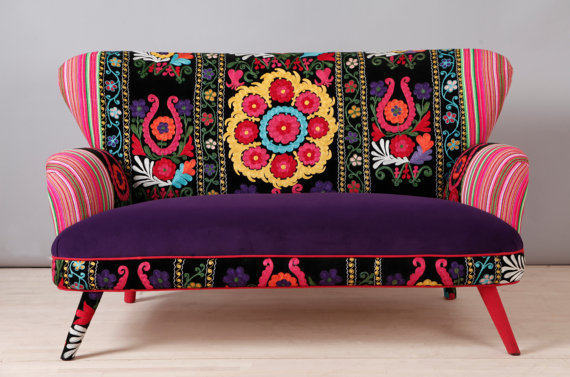 Etsy Finds Unique Patchwork Bohemian Sofa