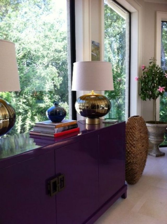 Currently Lusting After A Purple Sideboard