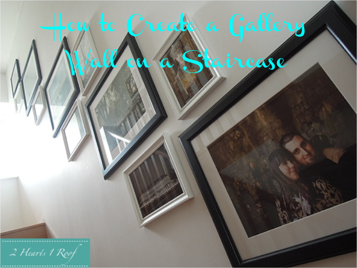How to Create a Picture Wall on a Staircase