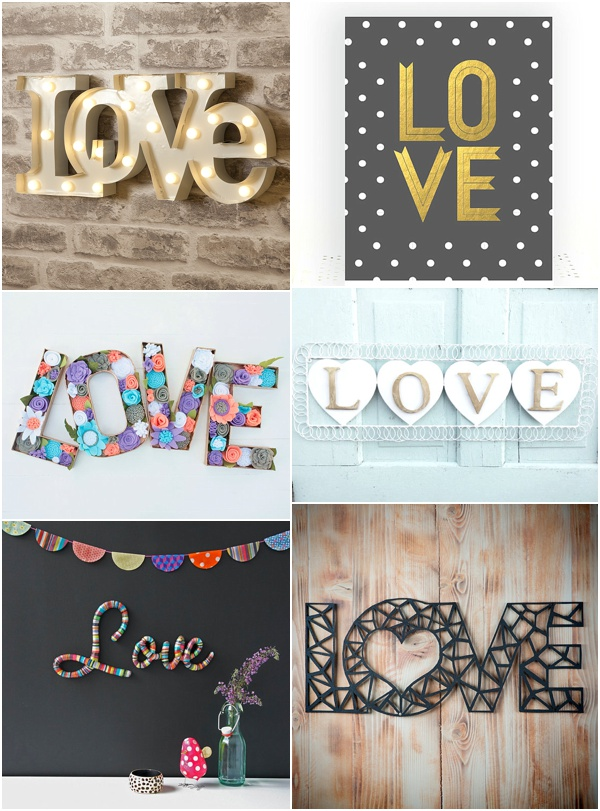 Love for your home - love sign