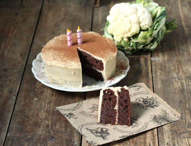 chocolate cauliflower cake recipe from Veggie desserts