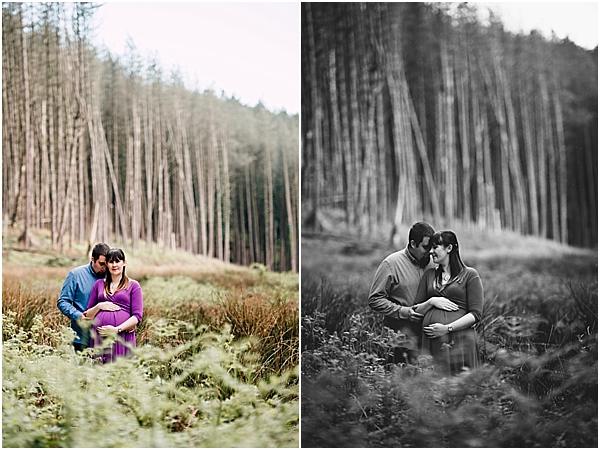 woodland maternity photoshoot