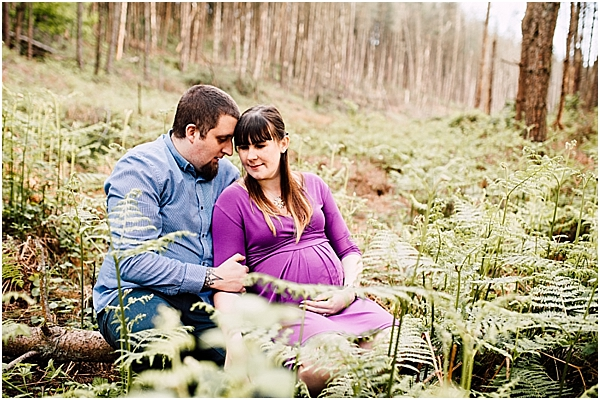 forestry maternity shoot