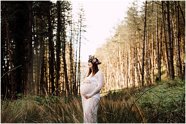 lace maternity dress for photoshoot