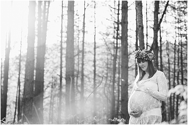 maternity photoshoot lace dress