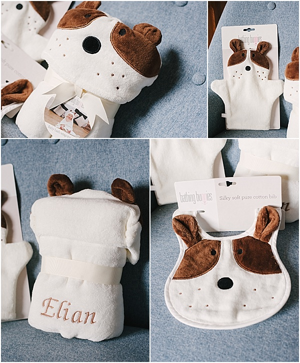 bathing bunnies newborn towel gift set