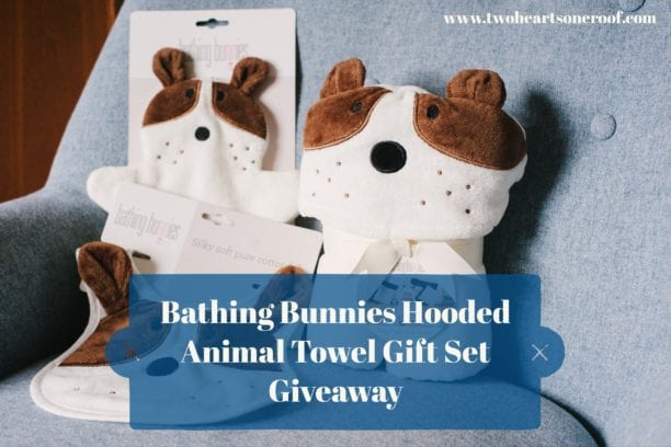 Bathing bunnies hooded animal towel gift set giveaway