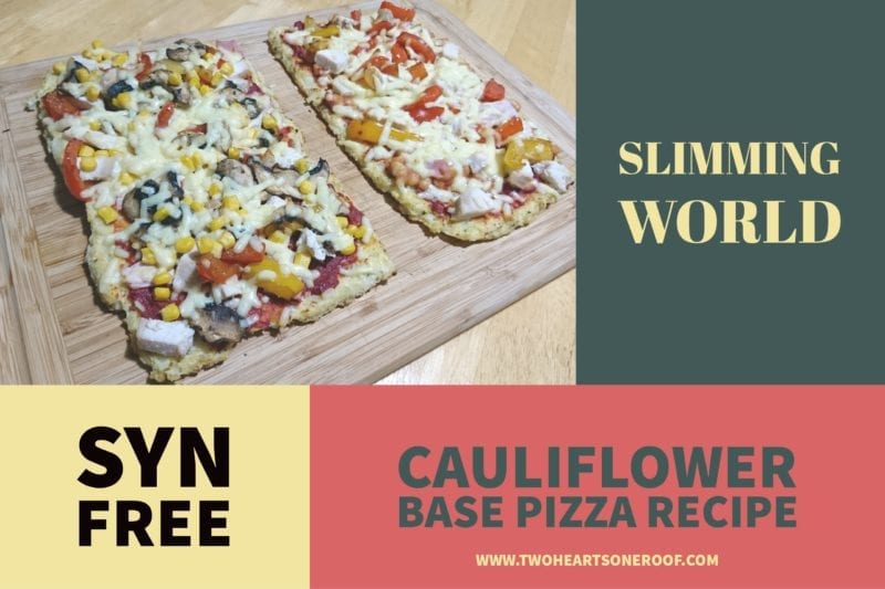 Slimming World Cauliflower Pizza recipe
