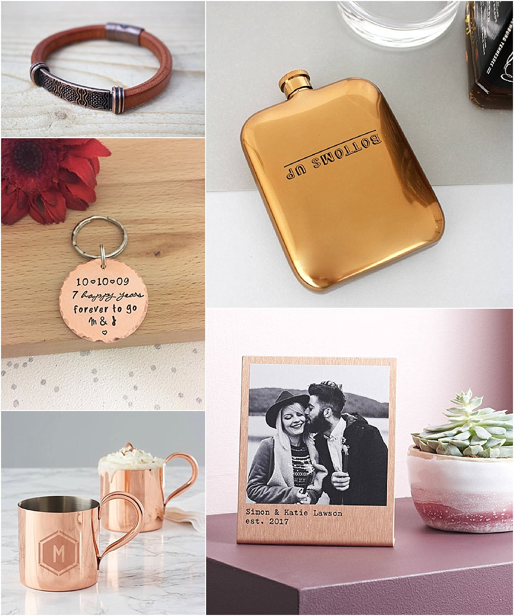 7th wedding anniversary gift ideas - wool and copper gift ideas