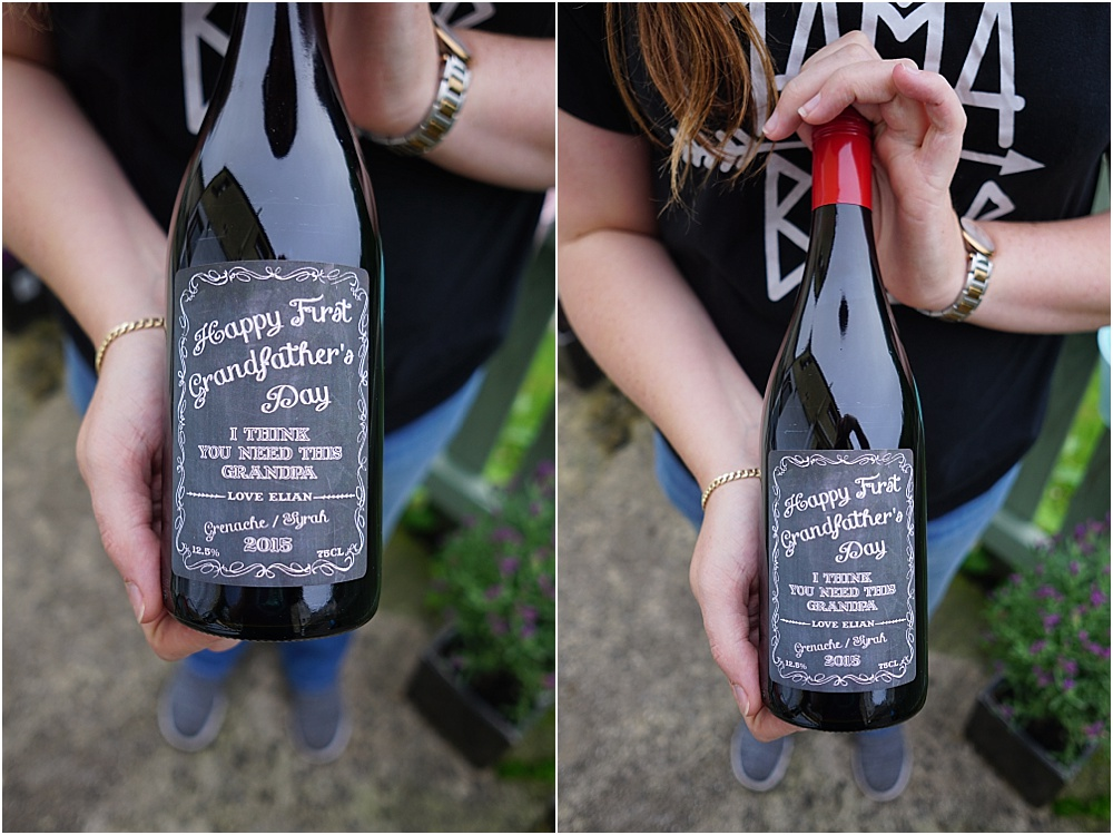 Personalised Wine Bottle - Fathers Day Gift Ideas