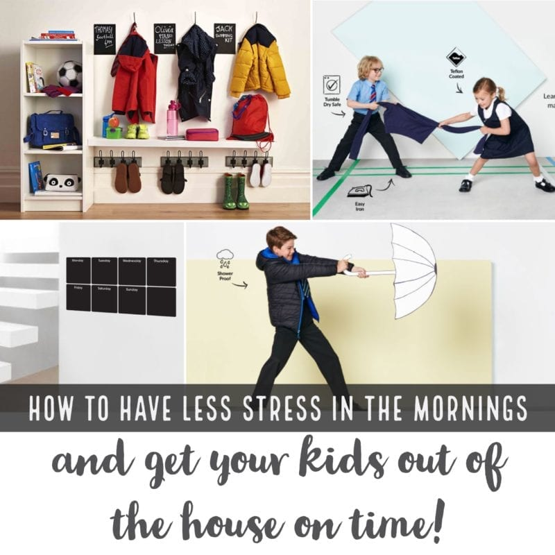 Less stress in the mornings - get kids out the door on time