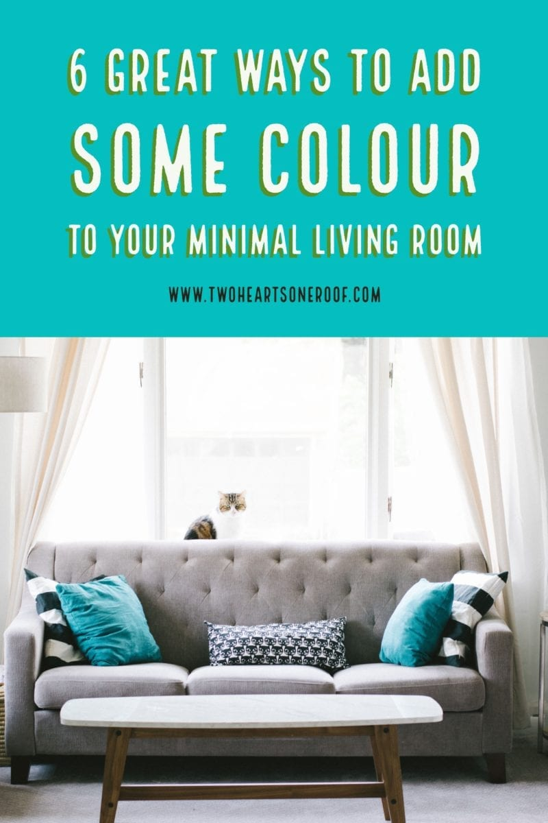 Add Some Colour to Your Minimal Living Room