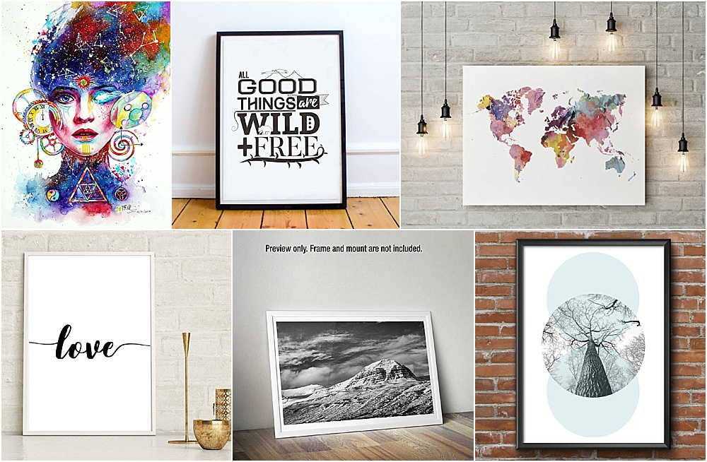 Decorating tips, beautiful prints for plain walls
