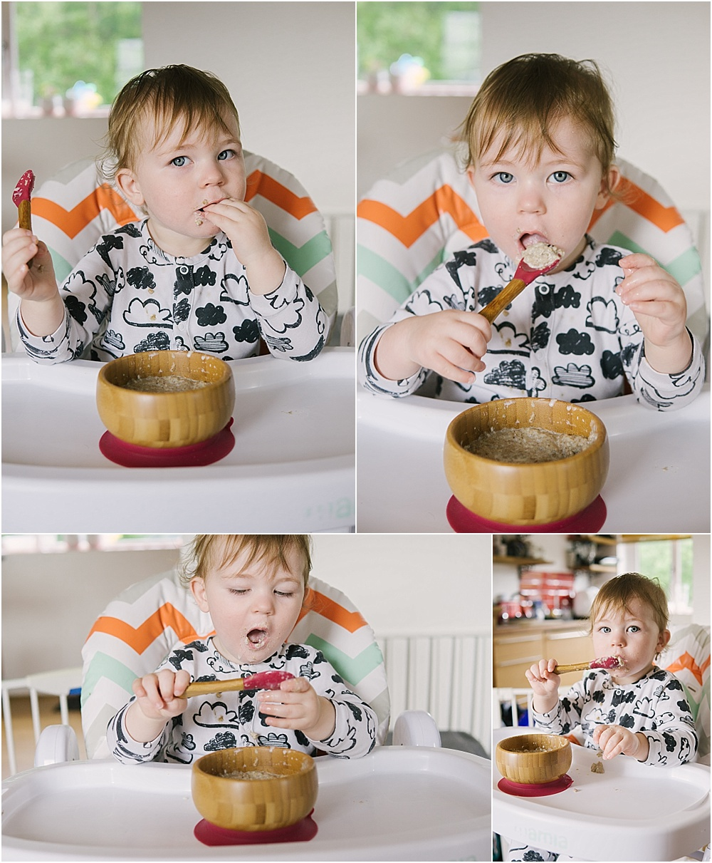Baby Led Weaning with Onco Baby Bamboo Bowl and Spoon Set