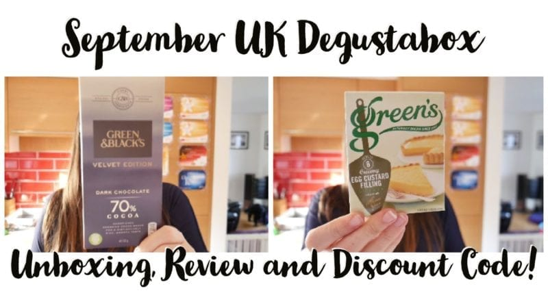 UK Degustabox September Unboxing and discount code