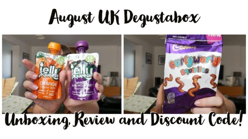 UK Degustabox August Review and discount code