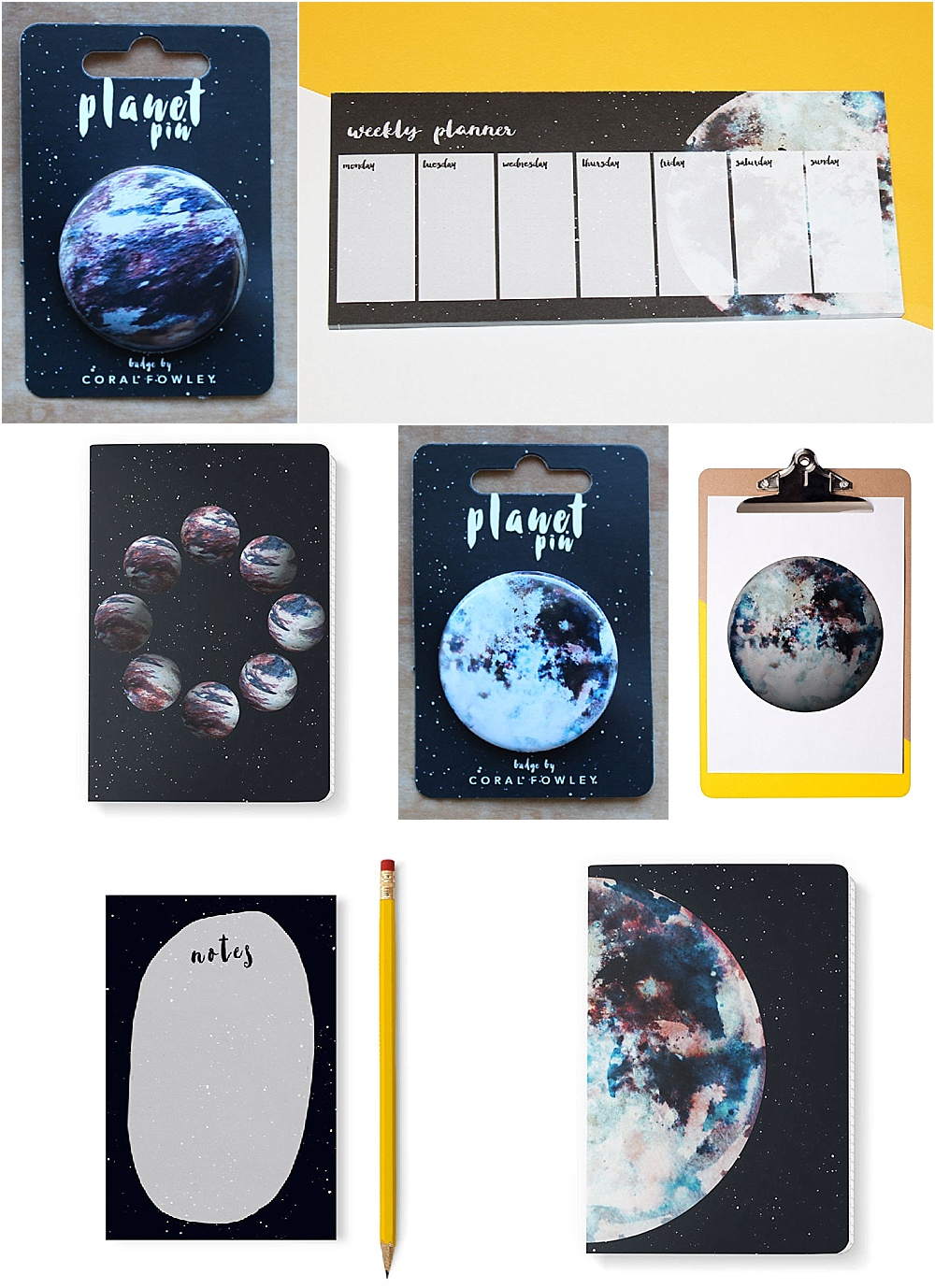 Win a Space Inspired Stationary Set from Coral Fowley