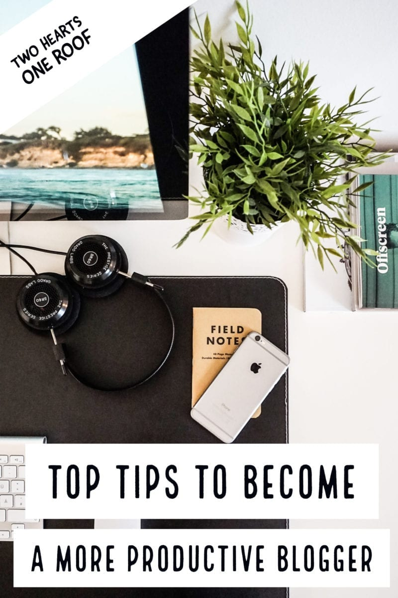 Top Tips To Become A More Productive Blogger - Plus Great Blogger Christmas Gift Ideas