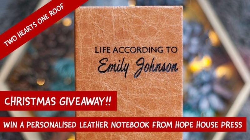 Win a Personalised Leather Notebook from Hope House Press