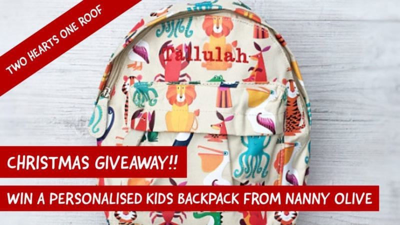 Win a Personalised Kids Backpack From Nanny Olive Boutique