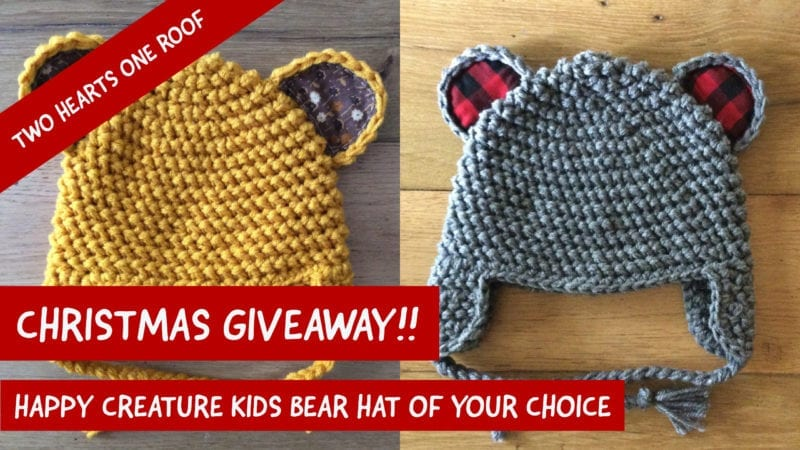 Win a Happy Creature Kids Bear Hat Of Your Choice